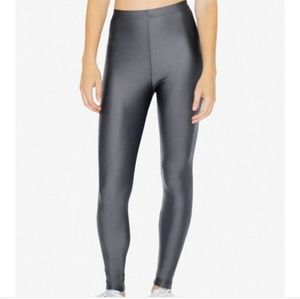 NWOT American Apparel Shiny Nylon Tricot Leggings
